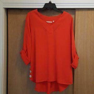 Soft Surroundings Salmon/red Shirt